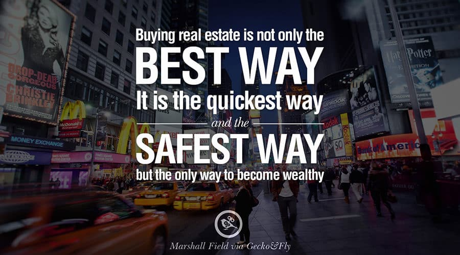 real estate safe way to become wealthy poster